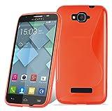 Cadorabo DE-105212 - Carcasa para Alcatel One Touch Pop C7 (Silicona y TPU), diseño de S, Color Rojo