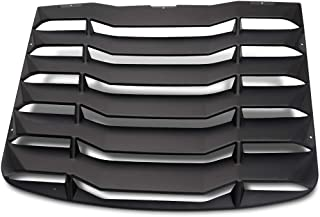 Speedmotor for 2003-2008 Nissan 350Z 3.5L Matte Black Rear Window Windshiled Louvers Cover Sun Shade ABS