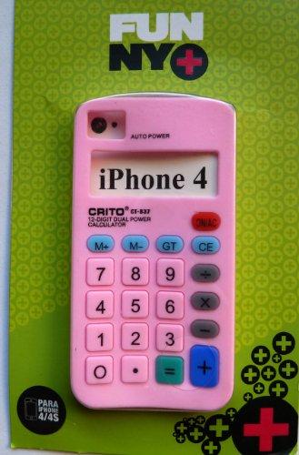 Funny + beschermhoes voor iPhone 4/4S, siliconen, rekenmachine, roze