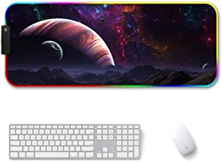 Amazer-T RGB Gaming Mouse Pad, Large Cool RGB Gaming Mouse Mat with Nylon Thread Stitched Edges & Smoothly Waterproof Non-...