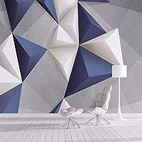 """カスタム壁壁画壁紙3D幾何学的不規則なグラフィックス壁布リビングルームソファテレビ背景壁家の装飾3Dフレスコ -400x280cm/157""""x 110"""""""