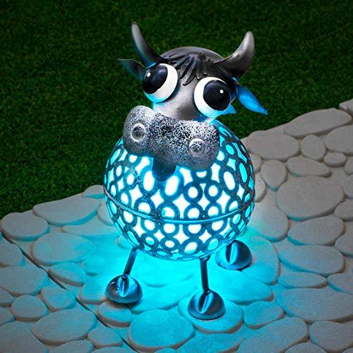 GloBrite Colour Changing LED Garden Metal Scroll Solar Light - Ornament Decoration Patio Light (Cow)