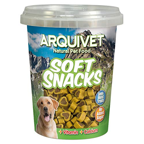 Arquivet Soft Snacks para Perro Corazones de Pollo y Caza 300 g