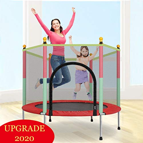 Pikolai 2020 Upgraded Safety Kids Trampoline for Interaction + Enclosure Net Jumping Mat + Spring Cover Padding, 4 FT, Easy-to-Assemble (Green)