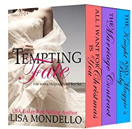 Tempting Fate (BOXED SET 1-3): a contemporary wedding romance (Fate with a Helping Hand Book 0) by [Lisa Mondello]