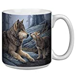 Tree-Free Greetings Kaffeetasse aus Keramik mit Wolfs-Motiv, 590 ml, XM29914