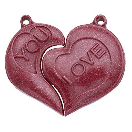 GZMUS Feng Shui Riqueza Natural Púrpura Arena Amor Pareja Encanto Colgante Chakra Collar Accesorios Curación Afortunado Chino Amor Regalos Atraen Dinero para Buena Fortuna Valiente Afortunado