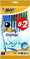 BOLIGRAFO BIC CRISTAL SOFT PACK 10 UNIDADES SURTIDAS 918534