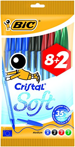 BIC Cristal Soft bolígrafos punta media (1,2 mm) - colores