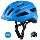 TurboSke Toddler Bike Helmet, CPSC Certified Multi-Sport Adjustable Helmet for Kids Boys and Girls Age 3-5 (Blue)
