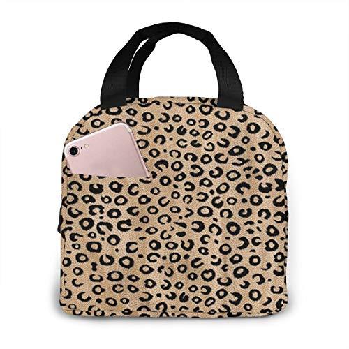 Portable Lunch Tote Bag Cute Black Ivory Animal Print Lunch Bag Insulated Cooler Thermal Reusable Bag Lunch Box Handbag Bags for WomenPicnicBoatingBeachFishingWork