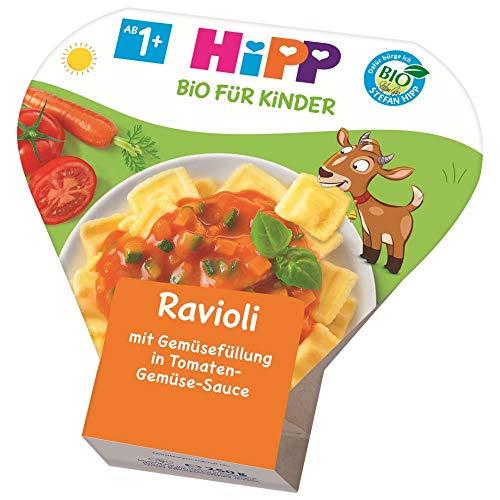 HiPP Kinder-Bio-Ravioli mit Tomaten-Gemüse-Sauce, 6er Pack (6 x 250 g)