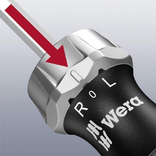 Wera - 5051461001 Kraftform 816 RA Bitholding Ratcheting Screwdriver, 1/4