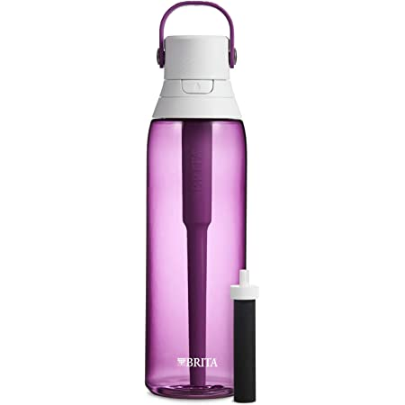 Brita Plastic Water Filter Bottle, 26 oz, Orchid
