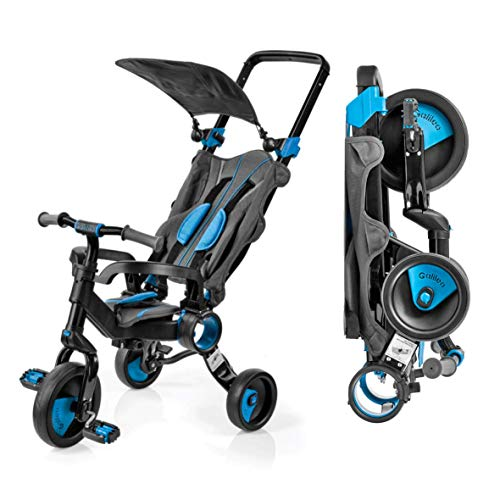 Galileo 3 in 1 Stroller Tricycle - No Assembly Required - Blue