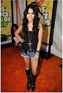 Vanessa Hudgens on Red Carpet Wearing Black and Boots 8 x 10 Inch Photo