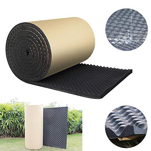 SmartHitech Pannello Antirombo Antivibrante Fonoassorbente Foam, Sound Shield, Impermeabile, Ad Alto Rimbalzo, Auto Insonorizzante, Nero (100X50X2Cm)