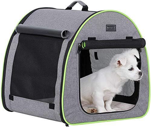 Petsfit Hundebox Transportbox Auto faltbar Hundetransportbox Stoff für große mittlere kleine Hunde