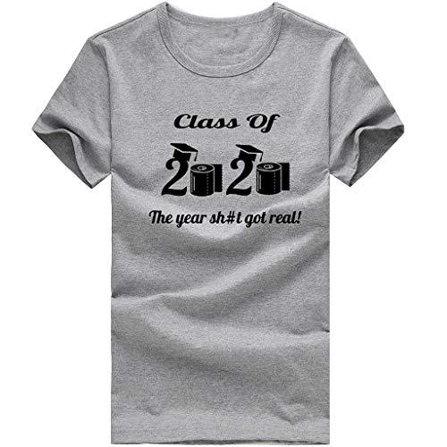 Dasongff I Survived The Panic of 2020 T-shirt, toiletpapier grafisch korte mouwen, ronde hals, tops, grappige shirts thee basic bovenstuk los zomertops 4XL grijs
