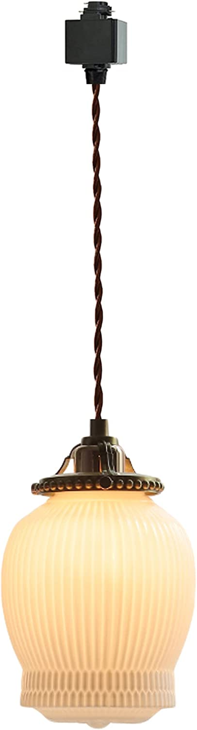 SKIVTGLAMP San Jose Mall Dimmable shopping H-Type Track Lighting Pendants Retro with Wh