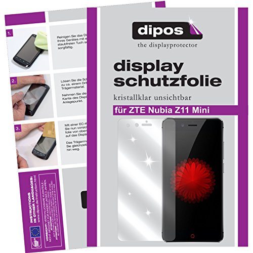 dipos I 6X Schutzfolie klar kompatibel mit ZTE Nubia Z11 Mini Folie Bildschirmschutzfolie