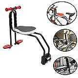 Yavso Kindersitz Fahrrad Vorne Abnehmbar Fahrradsitz Kind Sättel mit Pedal und Griff für Kinder 2-6 Jahren, max 50KG