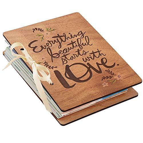 Hallmark Everything Beautiful Starts with Love Wedding Card Keeper Scrapbooks Milestones