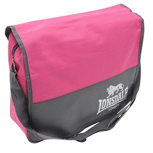 Lonsdale-Borsa a tracolla, colore: grigio carbone/Flight-Borsone portatutto, colore: rosa
