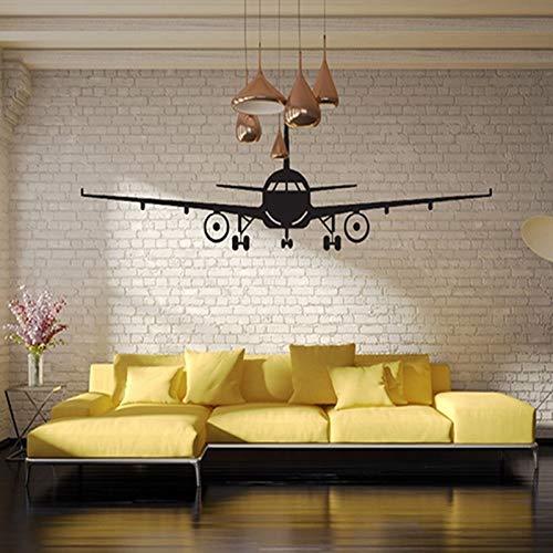 Sticker kunst aan de muur Poster Van Het Vliegtuig Stickers Muurstickers Civil Aircraft Interior Decoratieve Muurstickers Airplane Wall Art Decal Stickers