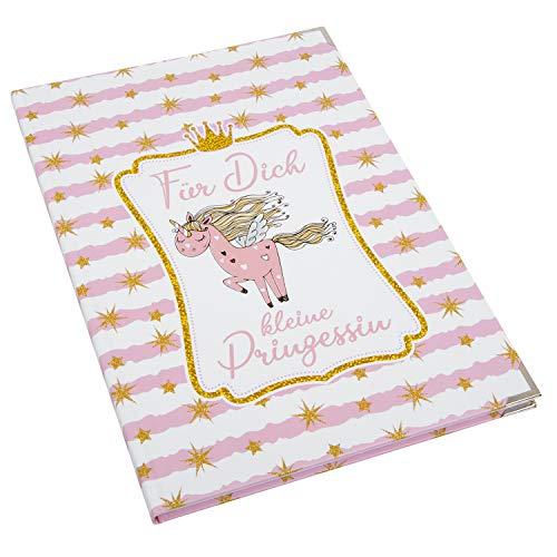 Logbuch-Verlag Notizbuch rosa Babytagebuch Babybuch Geschenk Geburt Einhorn Tagebuch Baby XXL Blankobuch