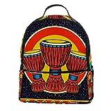 ATOMO Mini mochila casual música africana djembe pu cuero viajes compras bolsas Daypacks