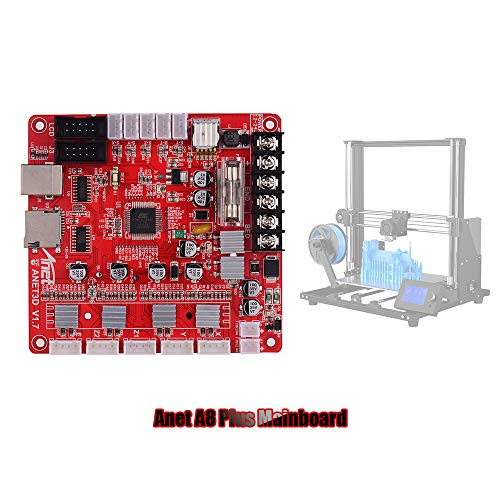Moniel A1284-Base V1.7 Base Control Board Mother Board Mainboard for Anet A8 Plus DIY Self Assembly 3D Desktop Printer RepRap i3 Kit Upgrade Supplies 24V