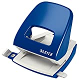 Leitz NeXXt 50081001 - Perforadora (2 agujeros), 30 hojas de capacidad, Azul,