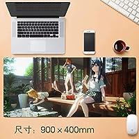 拡張大日本アニメゲーミングマウスパッド厚み付けノンスリップ耐水ビッグデスクテーブルマットプロフェッショナルEsportsも国夏デスクマットフィールスリップロックノートパソコンのキーボードパッド90 * 40センチメートル (サイズ : Thickness: 4mm)