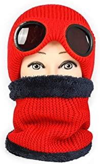 Hat Fashion Personality Snowboarding Balaclava Unisex Ski Hat Face Mask Windproof Motorcycle Face Shield Neck Warmer for Winter Outdoors Cycling Hiking Fashion Accessories (Color : Red)