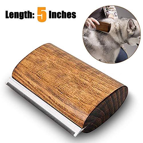 onebarleycorn – Hundebürste,Ergonomischer Holz Design deShedding Pflege Werkzeug, Professional Pet Pflegebürste für Hunde, Katzen und Pferde
