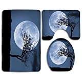 huatongxin Non-Slip 3 Piece Soft Treelight Victor Walsh Bath Rugs Set Washable Bathroom Rug + Contour Mat + Toilet Seat Cover,Floor Rug for Doormats Tub Shower Room Decorations