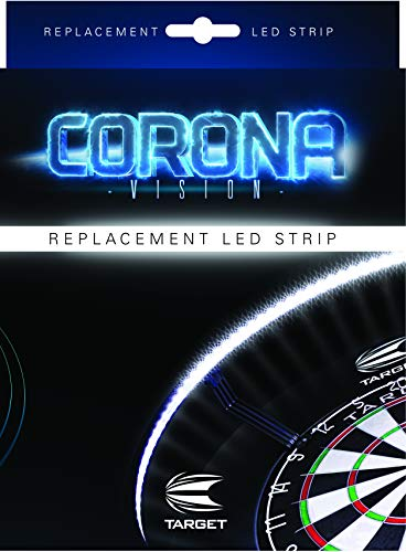 Target Darts Corona Vision Replacement LED Strip for Dartboard Lighting System, Standard, White LED