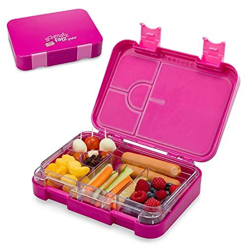 schmatzfatz junior Kinder Lunchbox, Bento Box mit variablen Fächern (Lila)