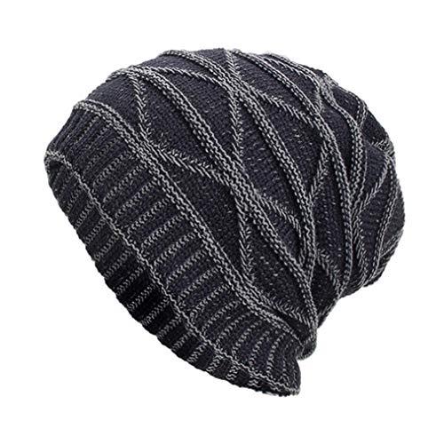 Celucke BeanieHerren Frauen Männer Caps Hüte Mützen Warm Ausgebeult Häkeln Crochet Winter Wolle Stricken Ski Skull