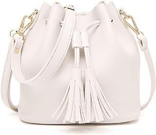 Dolce Na Damen-Mini-Tasche, Leder, Kordelzug, Quaste, Umhängetasche, Schultertasche