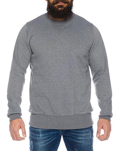 Raff&Taff Herren Sweatshirt Pullover inkl. Übergröße bis 8XL - mehrere Farben ID564, Größe:XL, Farbe:Grau