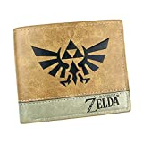 WANHONGYUE The Legend of Zelda Gioco Portafoglio in Pelle Artificiale per Uomo Portamonete Cuciture Bicolore