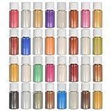 Dewel - 32 colori per sapone e pigmenti di mica per la bomboletta da bagno colorante per la fabbricazione di sapone (5 g)