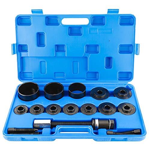 FreeTec 19 TLG. Radlager Werkzeug Set Radlagerwerkzeug Radnabe Abzieher Ausdrücker Montage Demontage für VW Audi Opel FIAT BMW