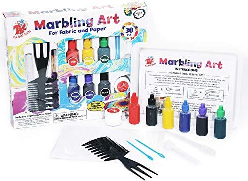 TBC The Best Crafts - Pintura de mármol, 6 botes de tinta marmolada (19ml cada una) para juguetes creativos