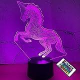 Lámpara LED proyección unicornio 3D