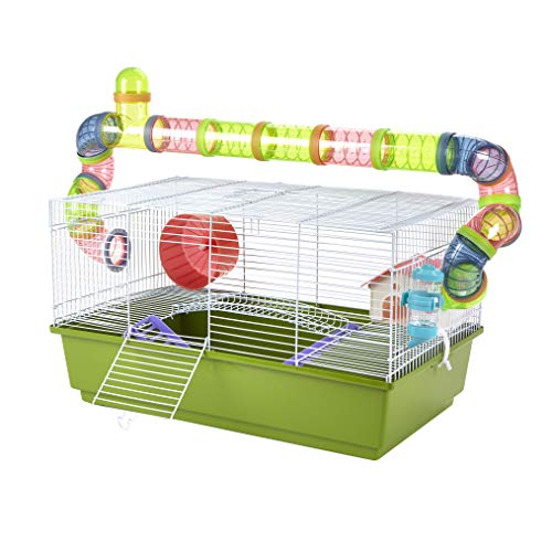 Pet Ting Hamsterkäfig mit Laufröhren, Liliengrün