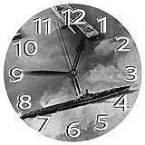 時計 壁掛け時計アナログクロックインテリア円形 静音 戦争第二次世界大戦米国海軍潜水艦ミッドウェイ環礁1945年写真 印刷 掛置兼用フラットフェイス 家寝室居間 直径25cm 部屋装飾