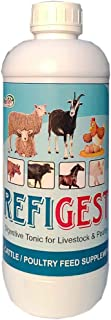 REFIT ANIMAL CARE - Digestive Tonic Supplement for Poultry, Cattle and Farm Animals (REFIGEST 1 LTR.)